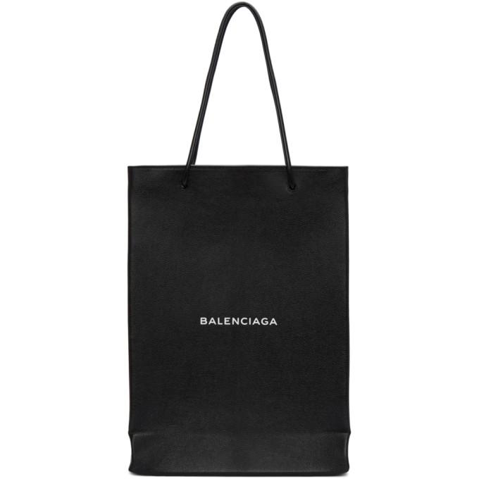 Balenciaga Black Logo Shopper Tote