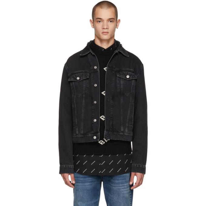 Balenciaga ブラック デニム キャンペーン ジャケット