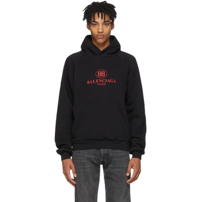 Balenciaga Black Mode Logo Hoodie