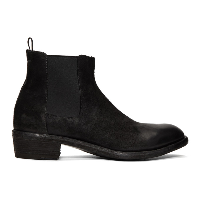 Officine Creative Black Ponti 002 Chelsea Boots