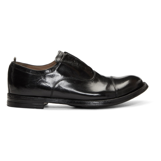 Image of Officine Creative Black Anatomia 15 Loafers