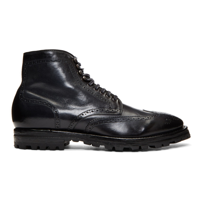 Officine Creative Navy Aspen 14 Boots