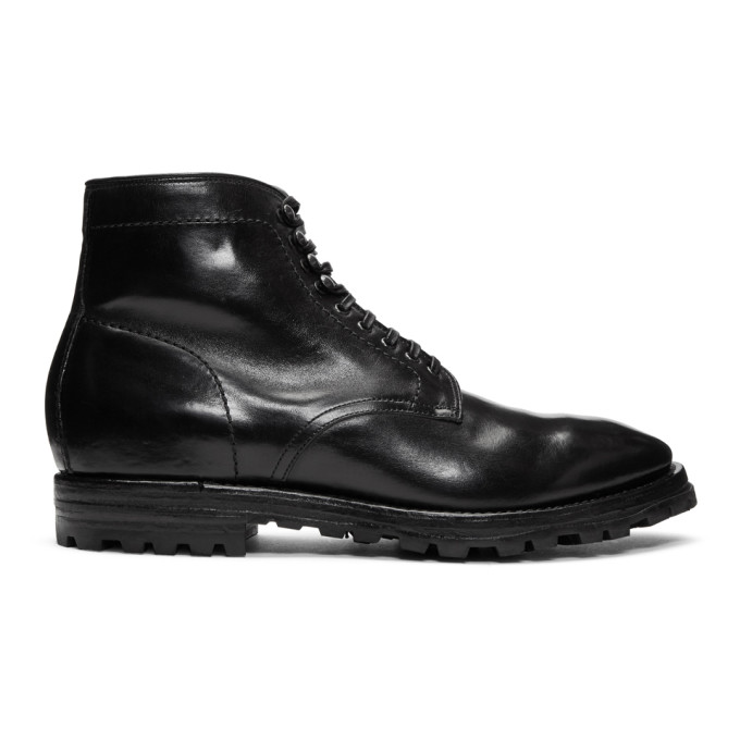 Officine Creative Black Aspen 5 Boots