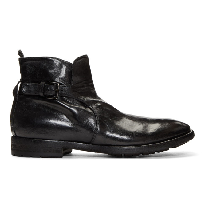 Officine Creative Black Princeton 50 Boots
