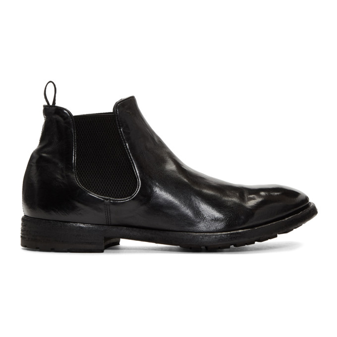 Officine Creative Black Princeton Chelsea Boots