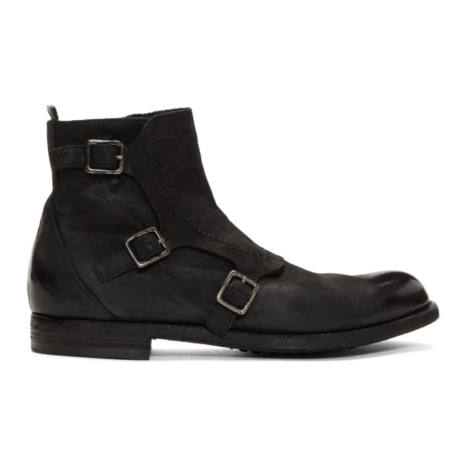 Officine Creative Black Tempus 15 Boots