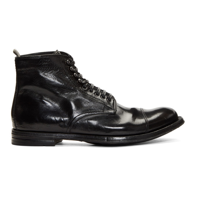 Image of Officine Creative Black Anatomia 16 Boots
