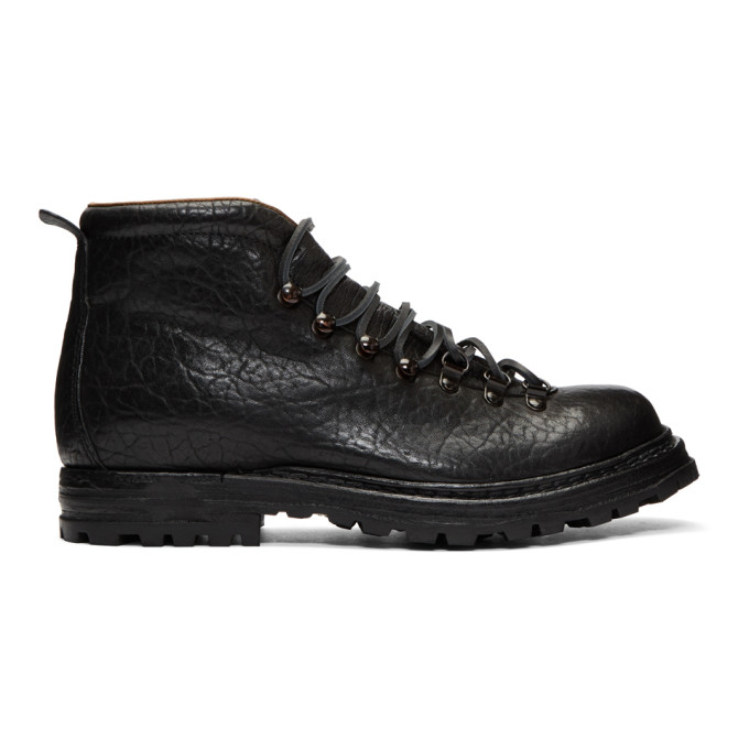 Officine Creative Black Kontra 3 Boots