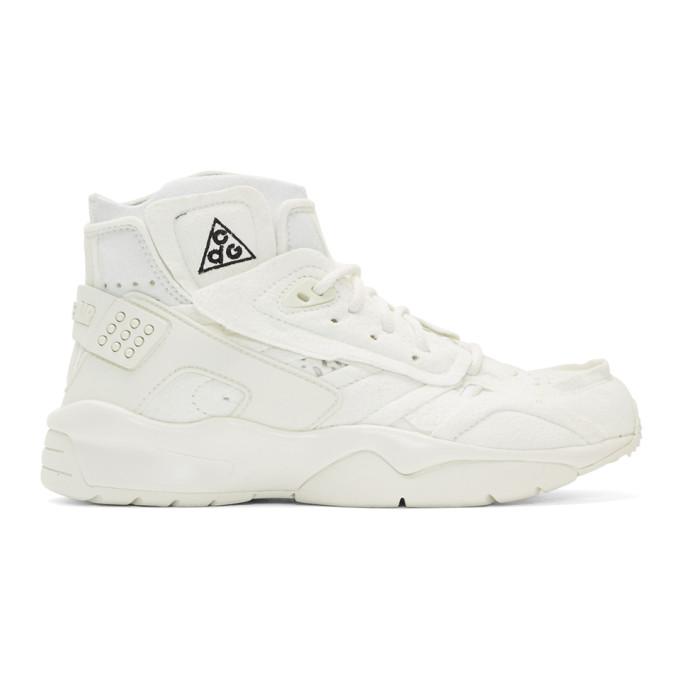 Comme des Garcons Homme Plus White Nike ACG Edition Air Mowabb Sneakers
