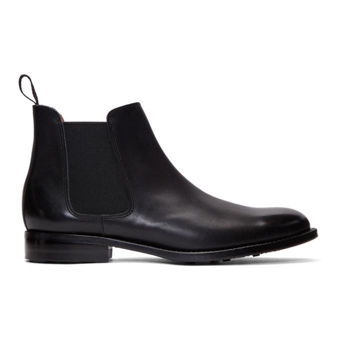 Comme des Garcons Homme Plus Black Leather Chelsea Boots