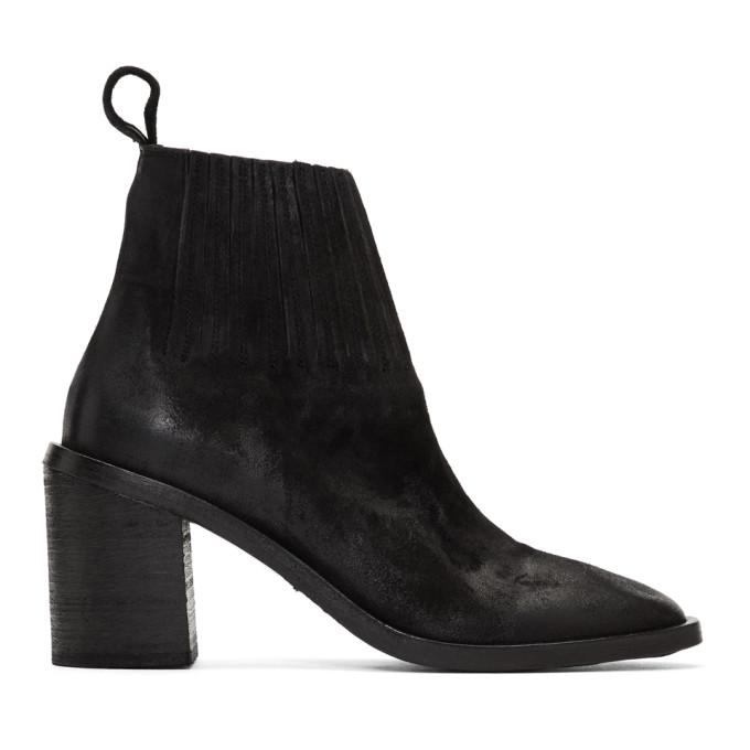 Mars�ll Black Tapiro Sock Detail Ankle Boots