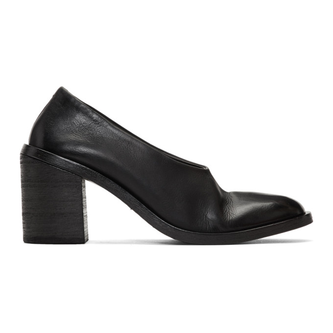 Mars�ll Black Tapiro Stacked Heels