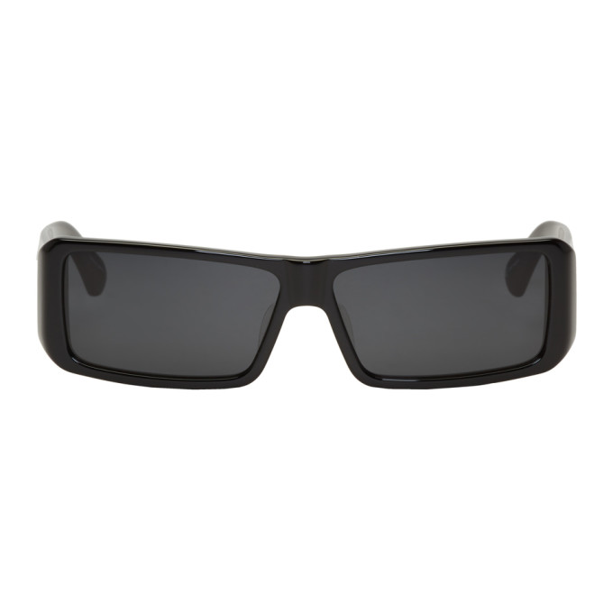 Image of Dries Van Noten Black & Grey Linda Farrow Edition 157 C1 Sunglasses