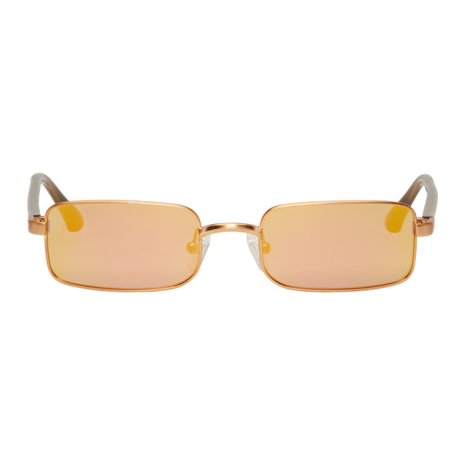 Image of Dries Van Noten Gold Linda Farrow Edition 139 C4 Sunglasses