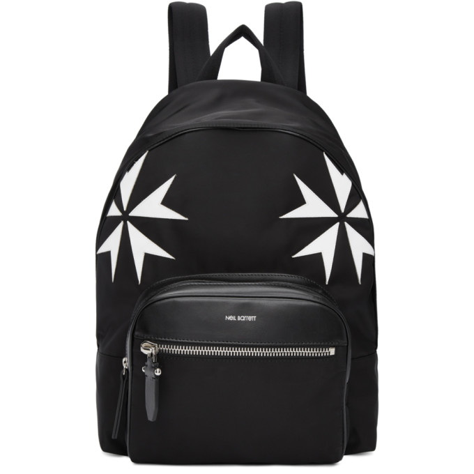 Neil Barrett Black Military Star Backpack