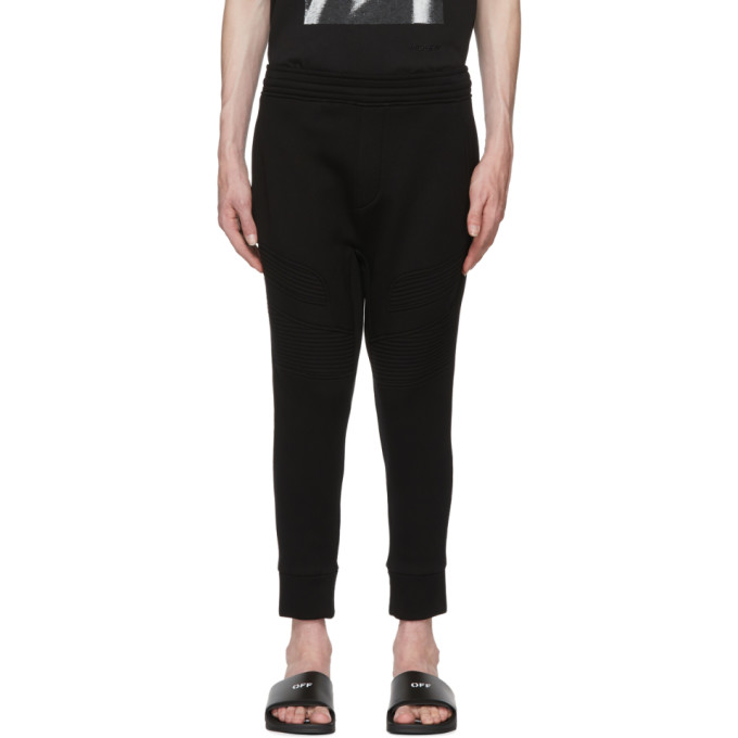 NEIL BARRETT BLACK MODERNIST LOUNGE PANTS