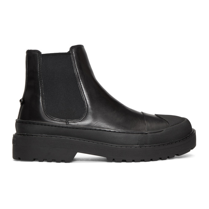 Neil Barrett Black Tark Military Chelsea Boots
