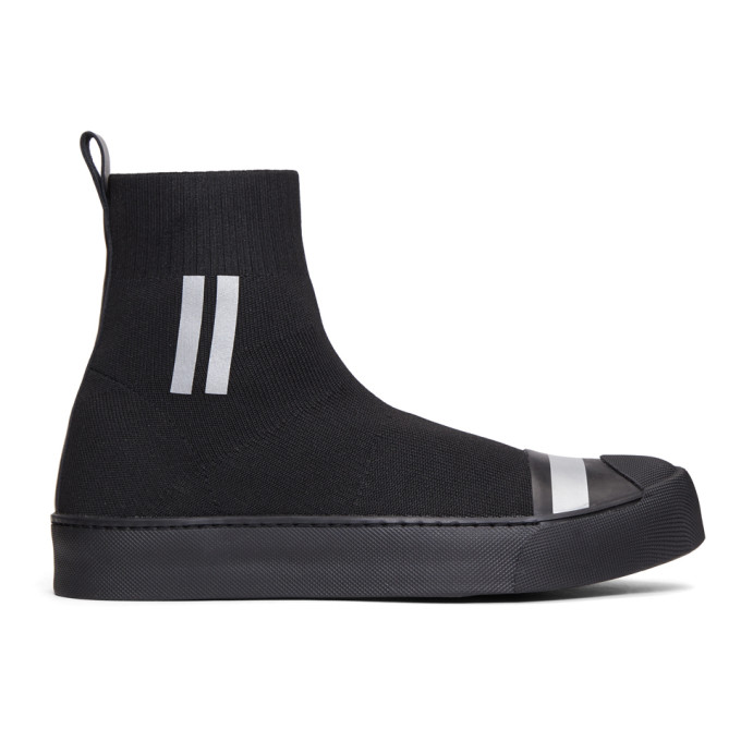 Neil Barrett Black Sock Skater High-Top Sneakers