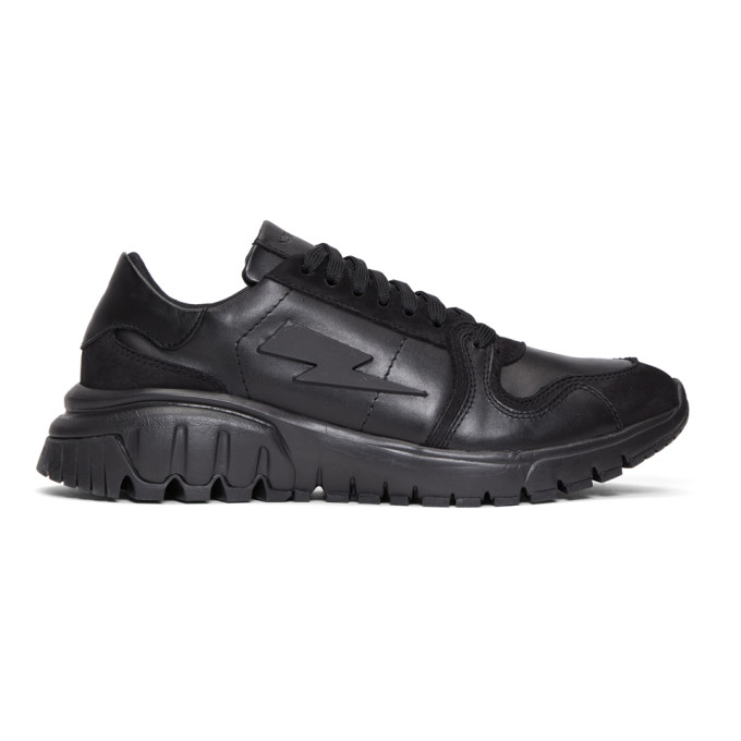 Neil Barrett Black Retro Runner Sneakers