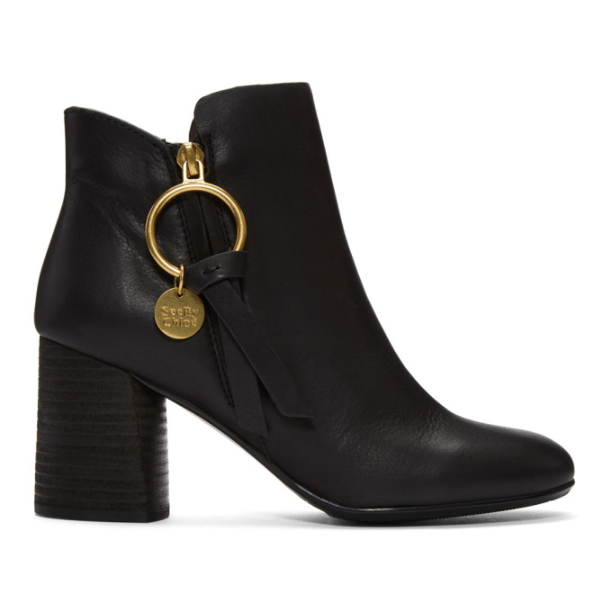 See by Chloe Black Louise Heeled Boots