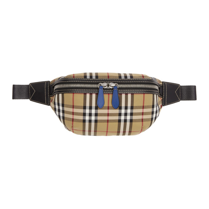 Burberry Yellow & Red Check Fanny Pack
