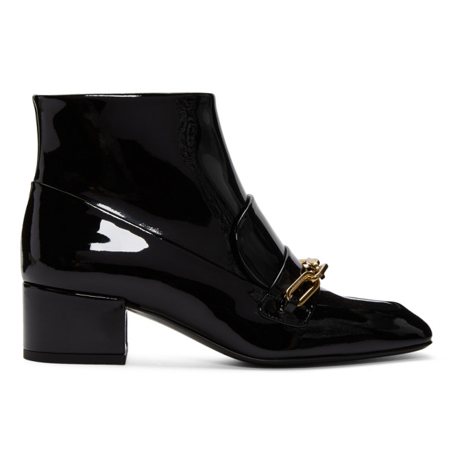 Burberry Black Patent Chettle 45 Boots