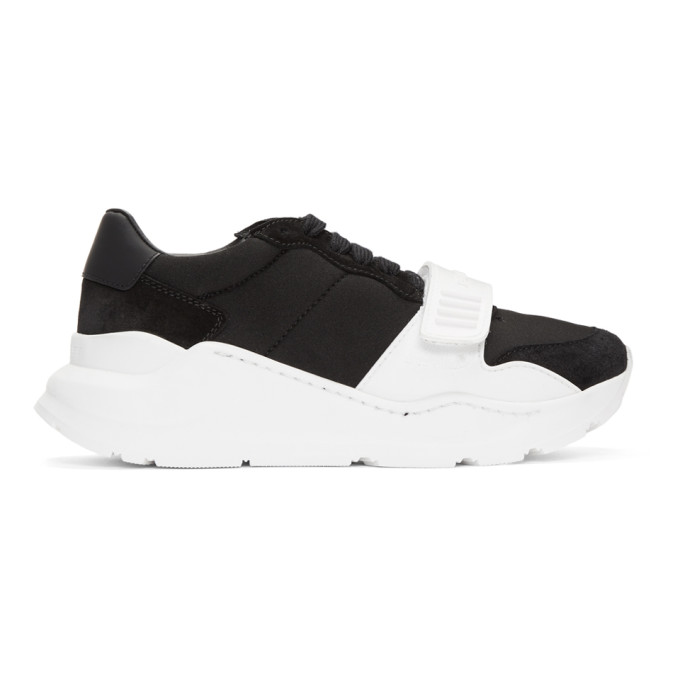 BURBERRY Regis Neoprene Low-Top Sneakers With Exaggerated Sole in Black