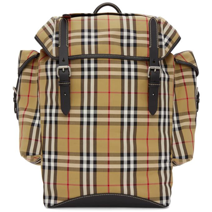 Burberry Beige & Black Ranger Check Backpack