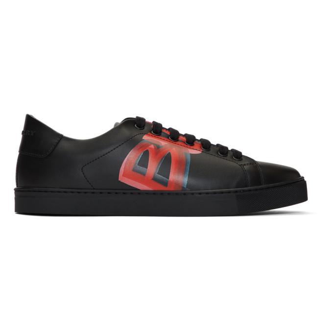 Burberry Black & Red Albert Sneakers