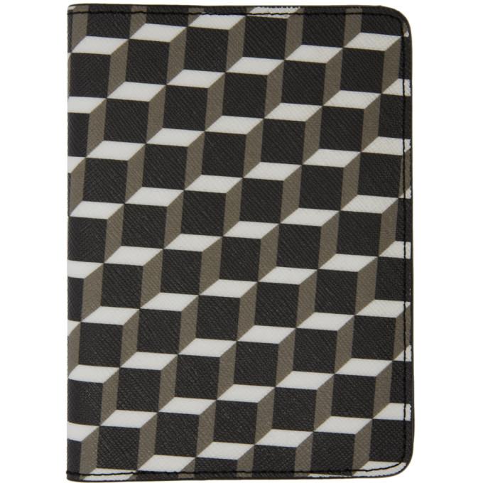Pierre Hardy Black & White Cube Perspective Passport Holder