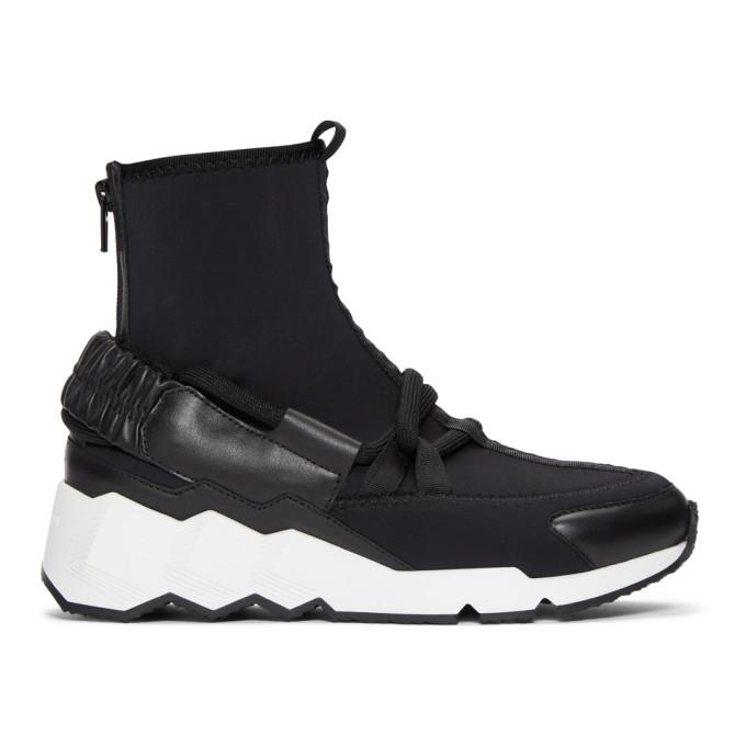 Pierre Hardy Black Comet Trek Up Sock Sneaker