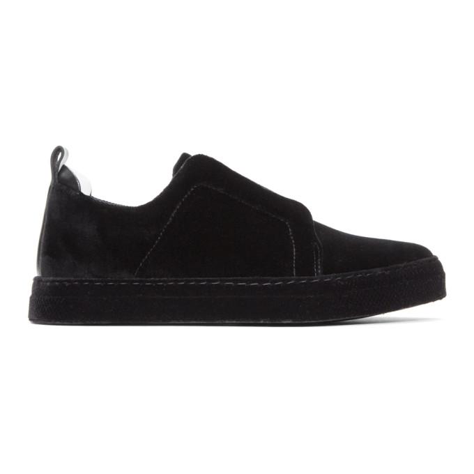 Pierre Hardy Black Velvet Slider Sneakers