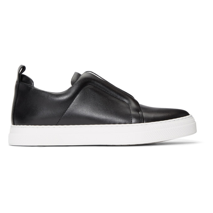 Pierre Hardy Black Classic Calf Slider Sneakers