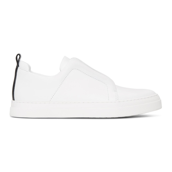 Pierre Hardy White Classic Calf Slider Sneakers