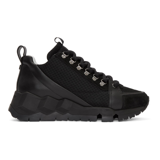 Pierre Hardy Black Alpine High-Top Sneakers