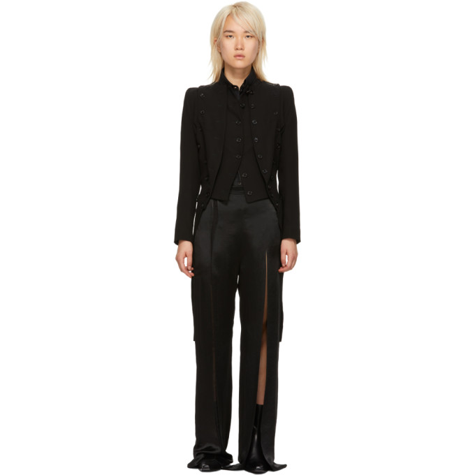 Ann Demeulemeester Double Layer Tuxedo Jacket - Black