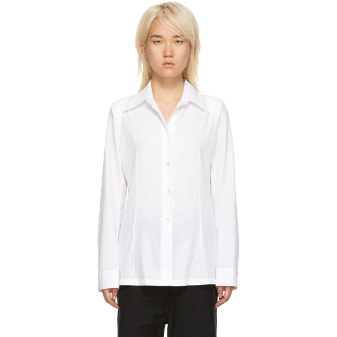 Ann Demeulemeester Pointed Collar Shirt - White