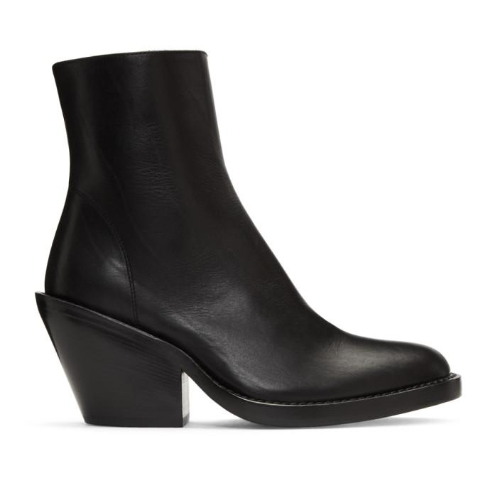 Ann Demeulemeester Black Short Heel Boots