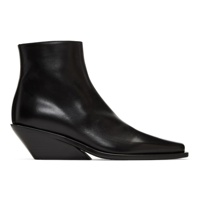 Ann Demeulemeester Black Wedge Boots