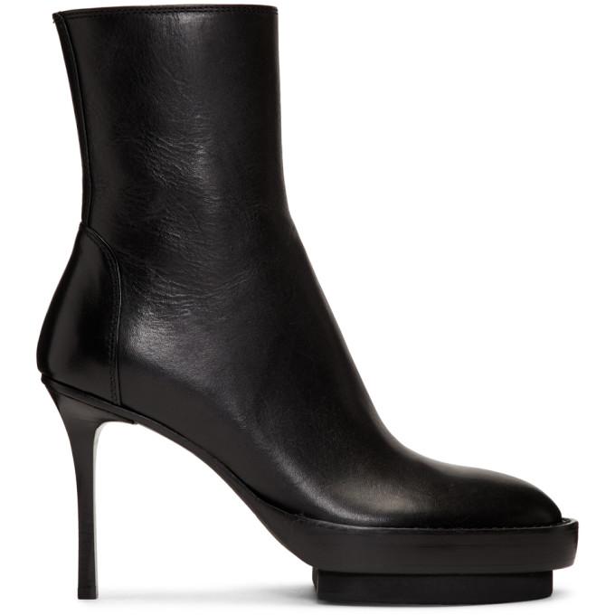 Ann Demeulemeester Black Platform Boots