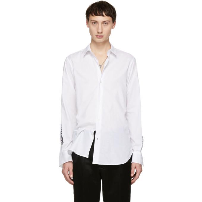 ANN DEMEULEMEESTER Ann Demeulemeester White Sleeve Print Shirt