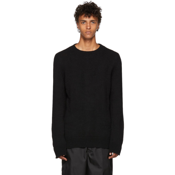 Image of Ann Demeulemeester Black Alpaca Pepito Sweater