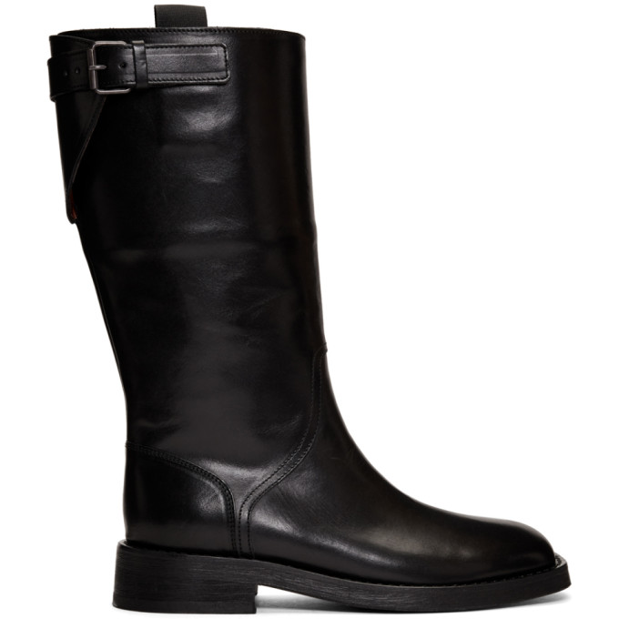 Ann Demeulemeester Black Tall Boots