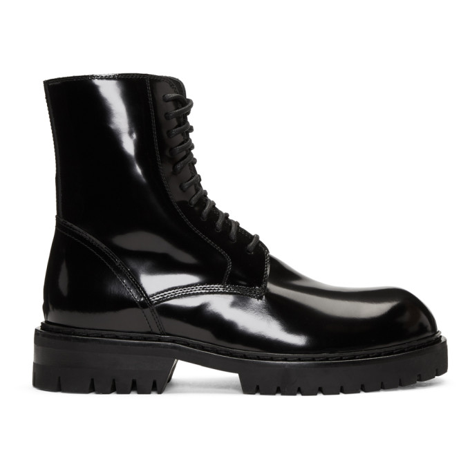Image of Ann Demeulemeester Black Abrasivato Boots