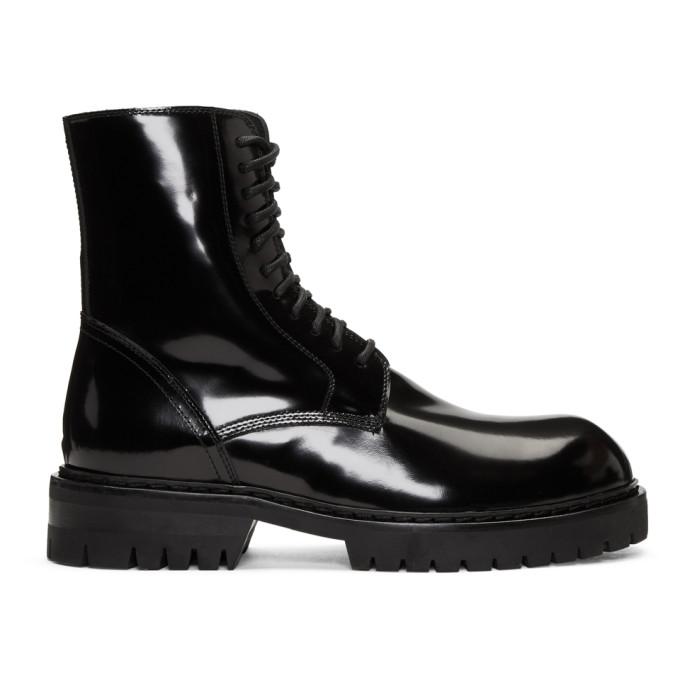 Ann Demeulemeester Black Abrasivato Boots