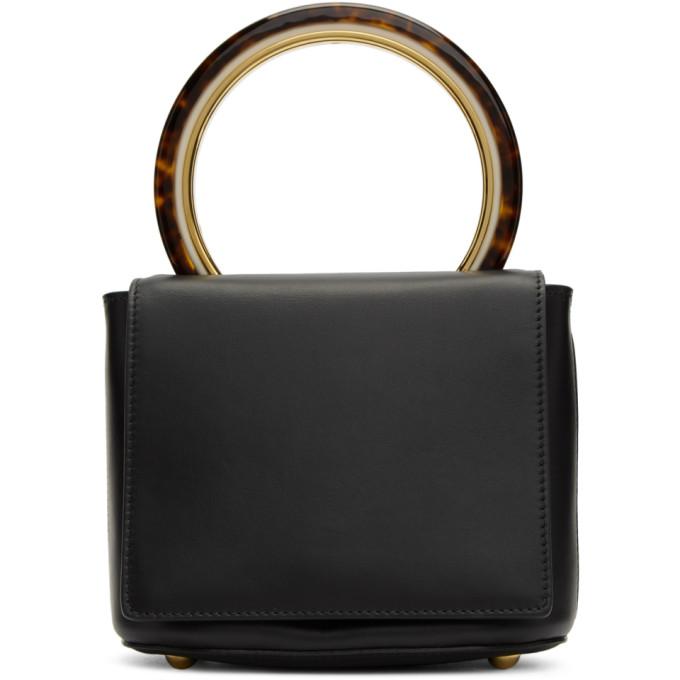 Marni Black Circle Handle Flap Bag