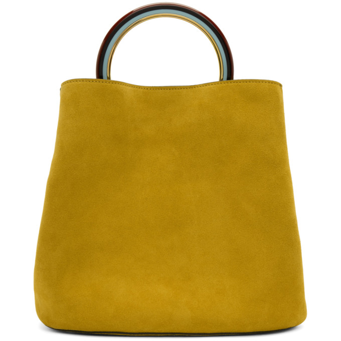 Marni Yellow Pannier Bucket Bag