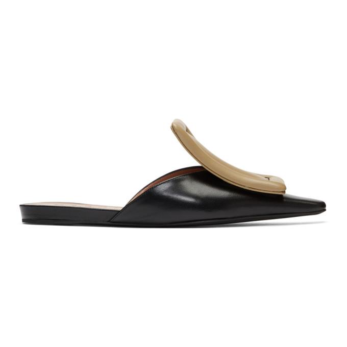 Marni Black & Beige Slippers