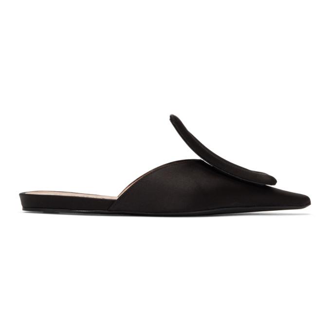 Marni Black Satin Slippers