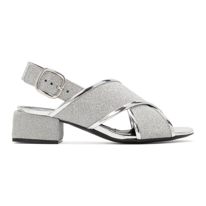 Marni Silver Glitter Sandals